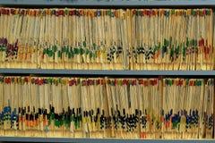 Tous les disques sont gardés d'une manière ordonnée Images libres de droits