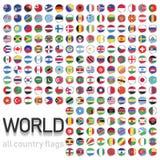 tous les drapeaux de pays du monde Photos stock
