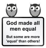 Tous les hommes égaux Photographie stock