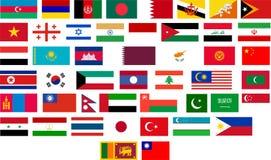 tous les indicateurs de pays asiatiques Photographie stock libre de droits