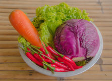 Tous les légumes dans la cuisson Images libres de droits