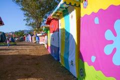 Tous les magasins de festival sont fermés dans la ville magique de Mascota Jalisco photographie stock libre de droits