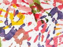 Tous les milieux d'abrégé sur bourdonnement de couleur de mains Photo libre de droits