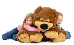 Tous les ours d'amour d'enfants ! Image stock