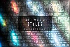 Tous les styles de musique Images libres de droits