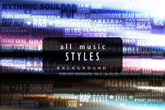 Tous les styles de musique Image stock