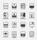 Tous les vecteur d'icône/ensemble humain de peau Image libre de droits