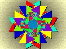 Tous ont effectué avec des triangles illustration stock
