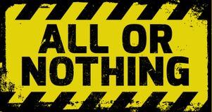 Tous ou rien signe Images libres de droits