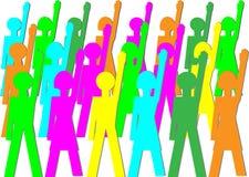 Tous oui - unanimes illustration libre de droits