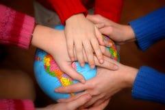 Tous pour la terre Image libre de droits