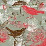 Tous pour le fond d'amour Image libre de droits