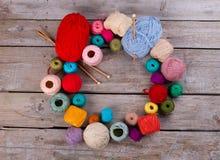 Tous pour le tricotage et le crochet Photo stock