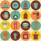 Tous pour les rétros icônes de maison Images stock