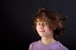 Tousled fun girl child Stock Image