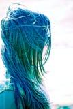 tousled hår Arkivbilder