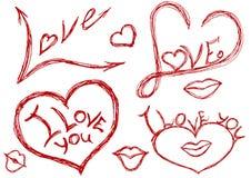 Tout au sujet de l'amour illustration de vecteur