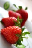 Tout au sujet de la fraise images stock