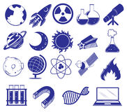 Tout au sujet de la science et technologie illustration stock