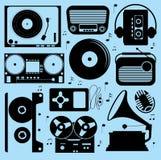 Tout au sujet du ramassage de musique Images libres de droits