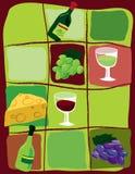 Tout au sujet du vin Image stock