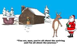 Tout au sujet du voyage de Noël illustration stock