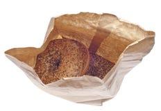 Tout bagels dans un sac de papier Photo libre de droits