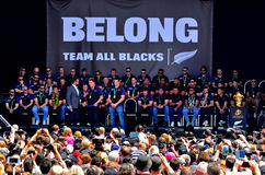 Tout l'entraîneur Steve Hansen et Richie McCaw de noirs Photos stock
