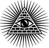 Tout l'oeil voyant - oeil de providence Image stock
