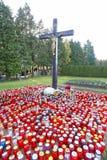 Tout le jour de saints au cimetière Image stock