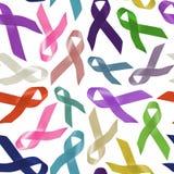 Tout le modèle de fond de ruban de jour du monde de cancers Images libres de droits