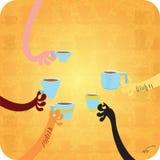 Tout le monde aime le café photo stock