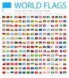 Tout le monde marque - nouvelle liste supplémentaire de pays et de territoires - le vecteur Pin Flat Icons illustration stock