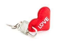 Coeur verrouillé Photo stock