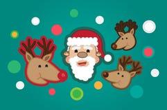 tout le Noël clôturé éditent la possibilité de pièces de l'illustration eps8 pour diriger illustration libre de droits