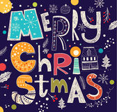 tout le Noël clôturé éditent la possibilité de pièces de l'illustration eps8 pour diriger Image libre de droits