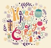 tout le Noël clôturé éditent la possibilité de pièces de l'illustration eps8 pour diriger Photographie stock