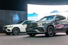 Tout le nouveau Mercedes AMG GLE 53 4Matic+, la quatri?me g?n?ration, W167, SUV de luxe de taille moyenne classe GLE a produit pa images libres de droits