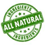 Tout le timbre naturel d'ingrédients illustration de vecteur