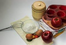 Tout pour la tarte aux pommes Photo libre de droits