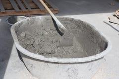Tout préparé du mortier de ciment Photo libre de droits
