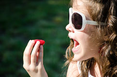 Tout préparé une fraise Photographie stock