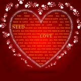 Tout que vous avez besoin est amour Image stock