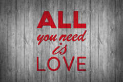 Tout que vous avez besoin est amour Photo libre de droits