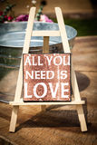 Tout que vous avez besoin est amour Images libres de droits