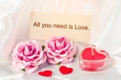 Tout que vous avez besoin est amour Image libre de droits