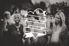 Tout que vous avez besoin est concept de graphique de coeur d'amour Images libres de droits