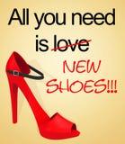 Tout que vous avez besoin est des chaussures Photos stock