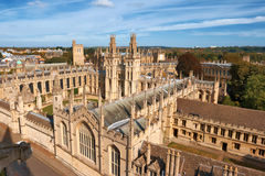 Toute l'université d'âmes. Oxford, Angleterre Photo stock