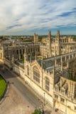 Toute l'Université d'Oxford d'université d'âmes, Oxford, R-U Photographie stock libre de droits
